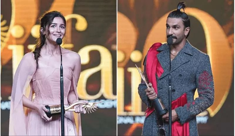 Ranveer Singh, Alia Bhatt Bags Best Actor/Actress Award at IIFA Awards 2019