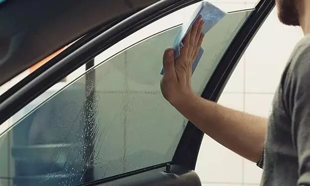 Tinted window cleaning tips; Step by Step