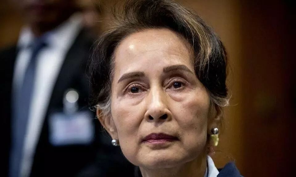 Myanmars Leader Aung San Suu Kyi in Court for First-time Since Military Coup