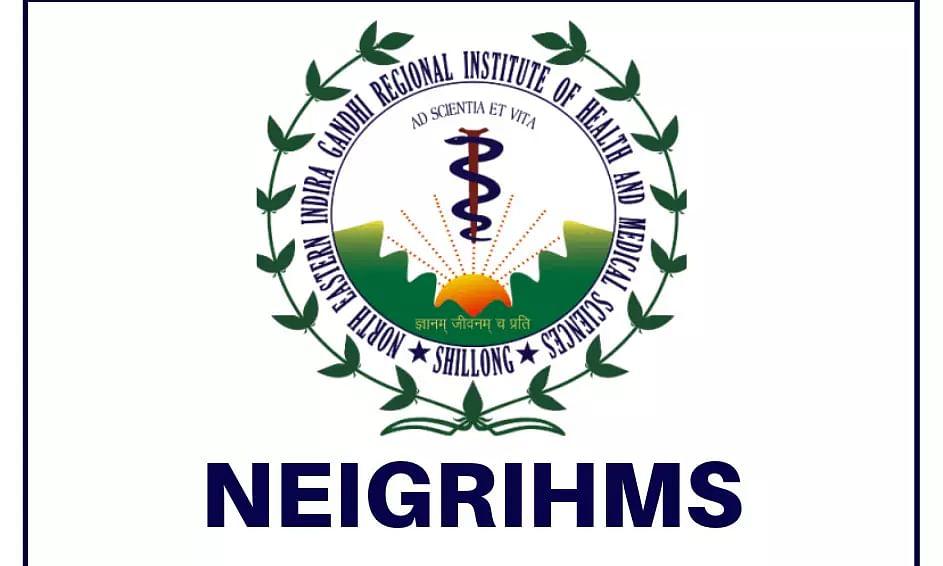 NEIGRIHMS Recruitment 2021 – 26 Junior Resident Doctors job vacancies, Job Openings