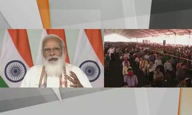 PM Modi inaugurates Maitri Setu over Feni river between India and Bangladesh