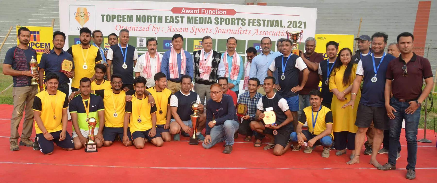 My News NE win soccer title at Nehru Stadium