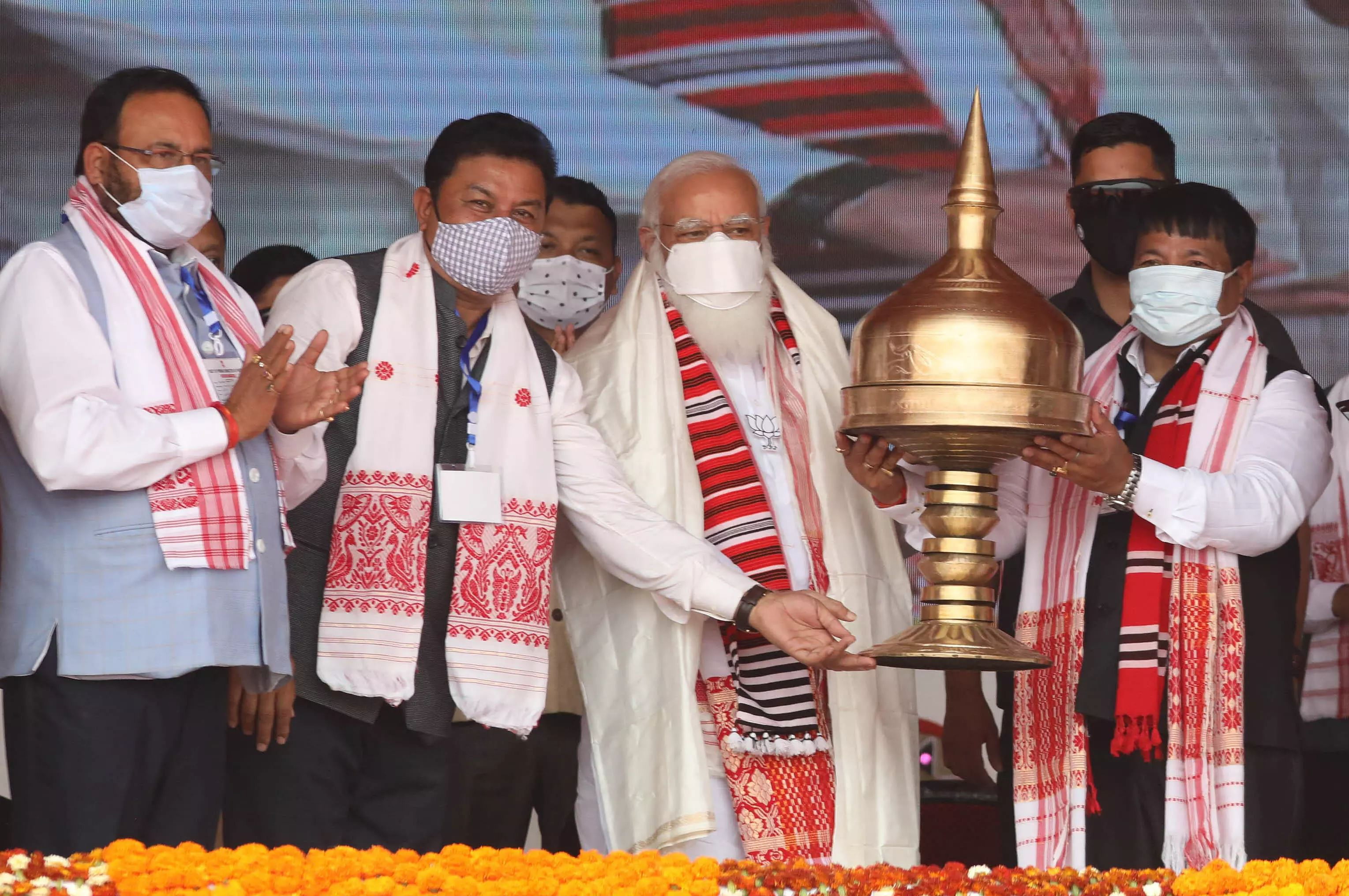 Double-engine government will make Assam Aatmanirbhar: PM Modi