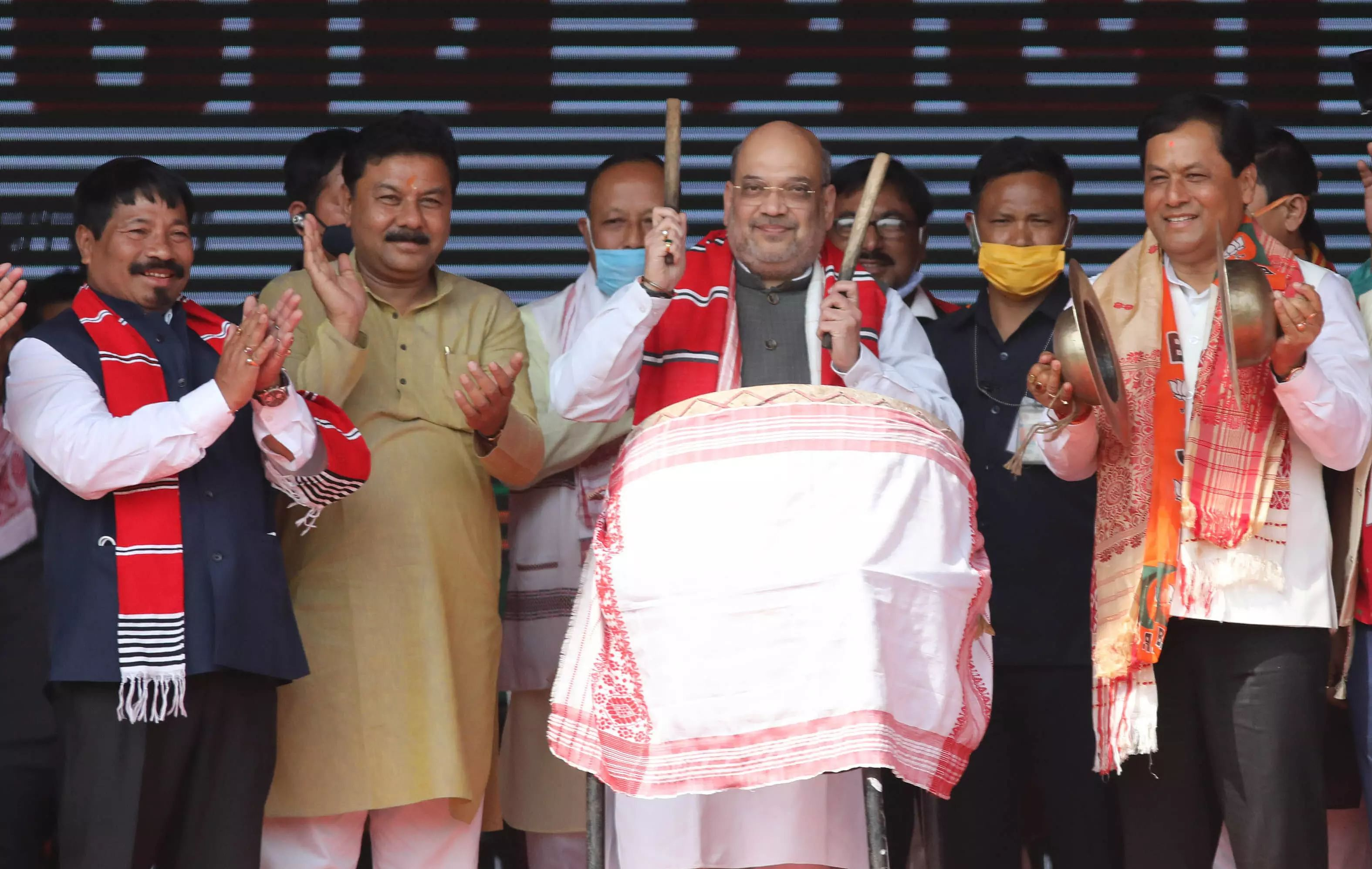 Only BJP can save Assam from Infiltrations: Amit Shah