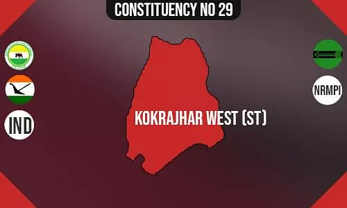 Kokrajhar West Assembly Constituency - Population, Polling Percentage, Facilities, Parties Vote Share, Last Election Results