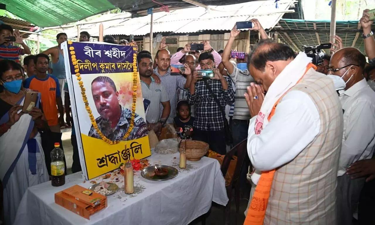 Himanta Biswa Sarma Visits Martyred CRPF Jawans Family at Dudhnoi