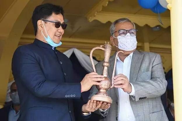 Sports minister Kiren Rijiju inaugurates rowing centre in Srinagar