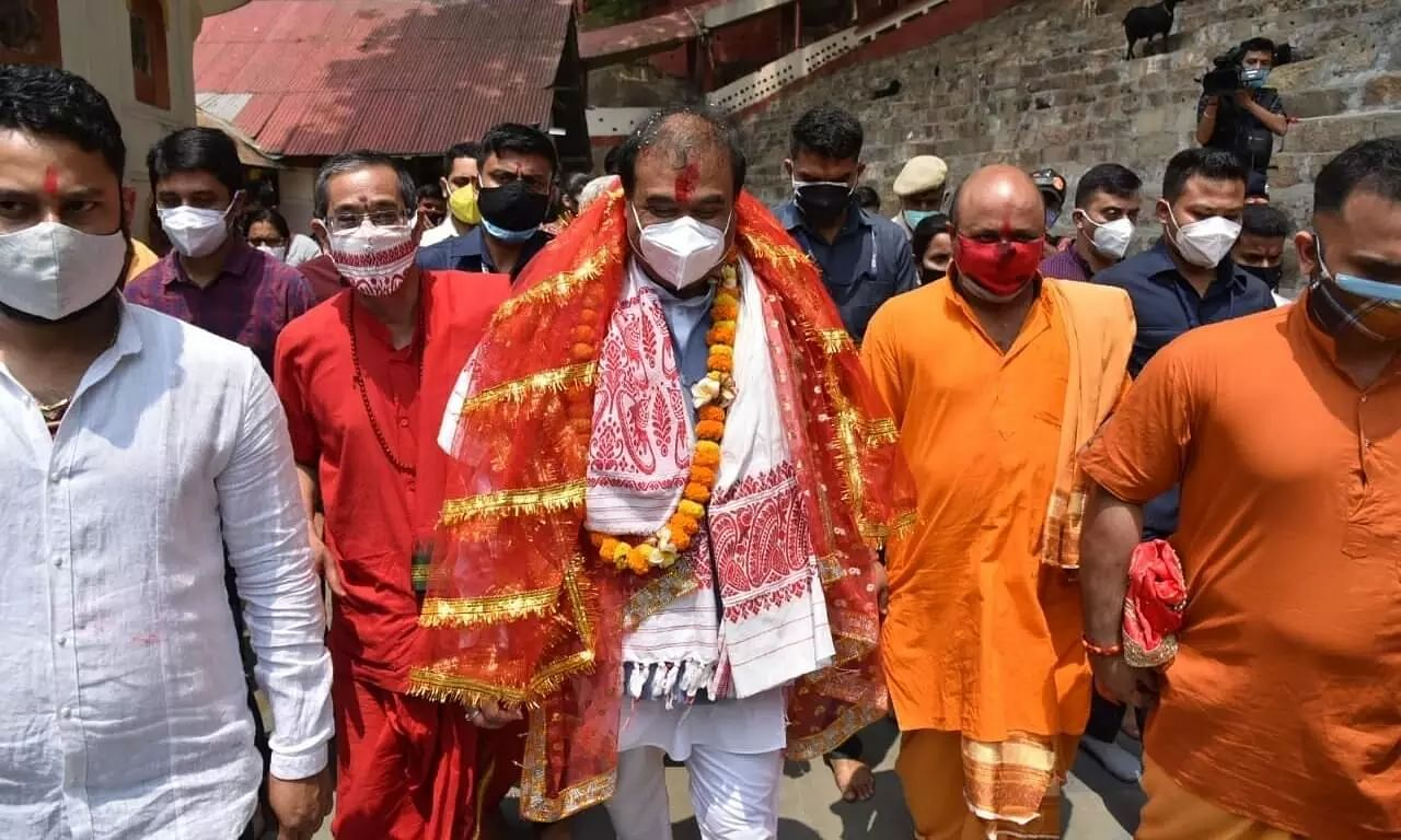 Himanta Biswa Sarma Visits Constituency, Temples Before being Sworn-In as 15th Assam CM