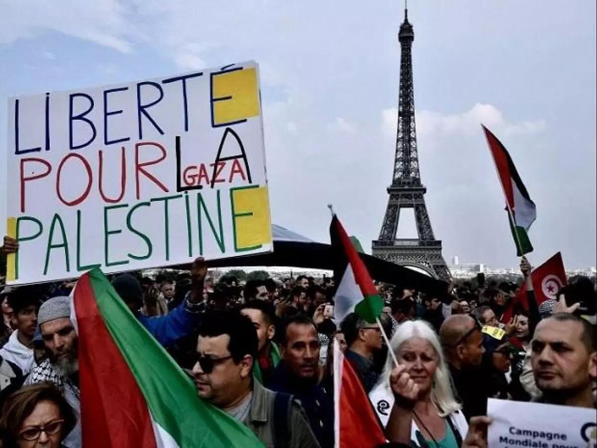 Massive turnout for pro-Palestinian protest in Paris despite ban