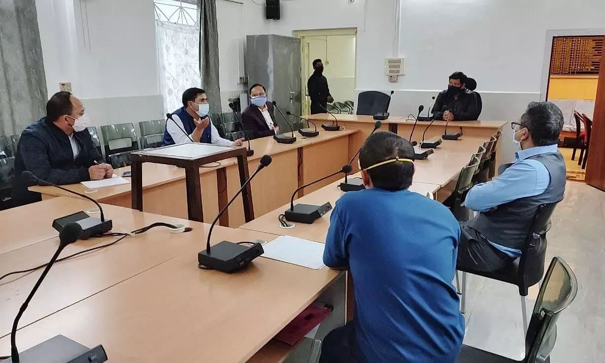 Meghalaya CM Conrad Sangma interacted with the Staff of Civil Hospital, Discussed Issues on COVID-19 Provisions