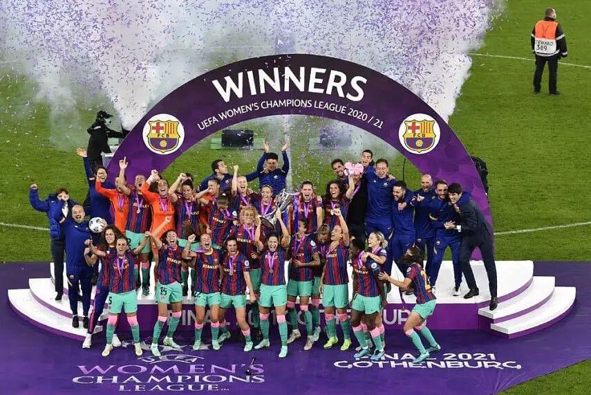 Barcelona thrash Chelsea to win Womens Champions League