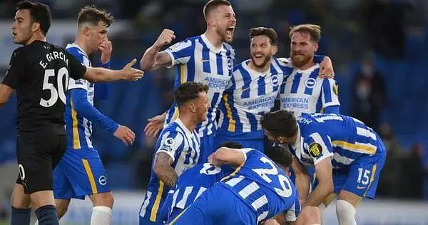 Brighton stun City; Manchester City Chelsea beat Leicester