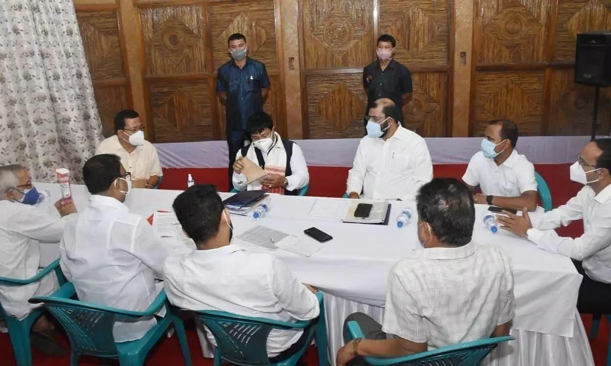 Assam Accord Implementation Minister Atul Bora meets AASU leadership at Swahid Nyas