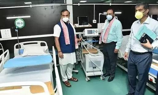 CM Himanta Biswa Sarma Inaugurates 300 Bed COVID Hospital in Sarusajai Stadium Complex