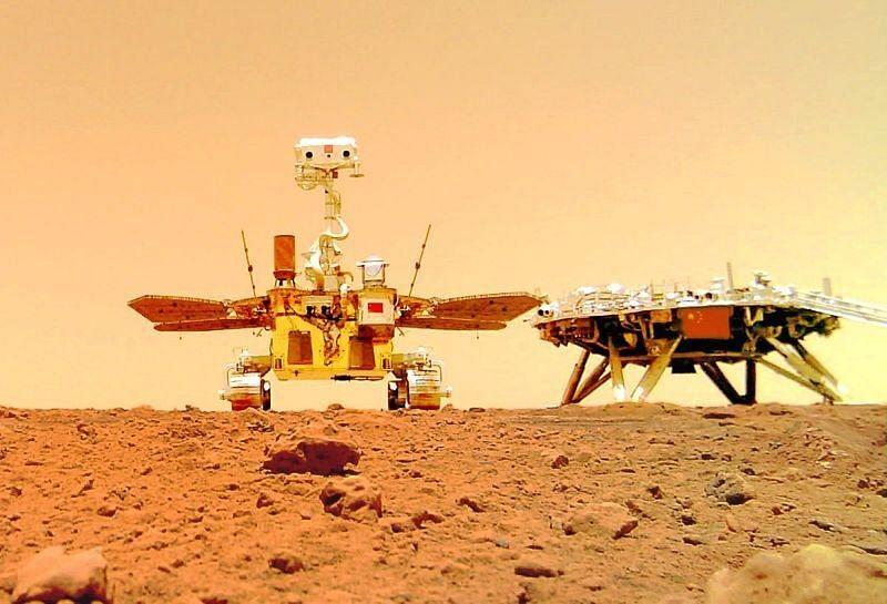 Chinas Mars rover sends 1st selfie, touring group photos - Sentinelassam - The Sentinel Assam