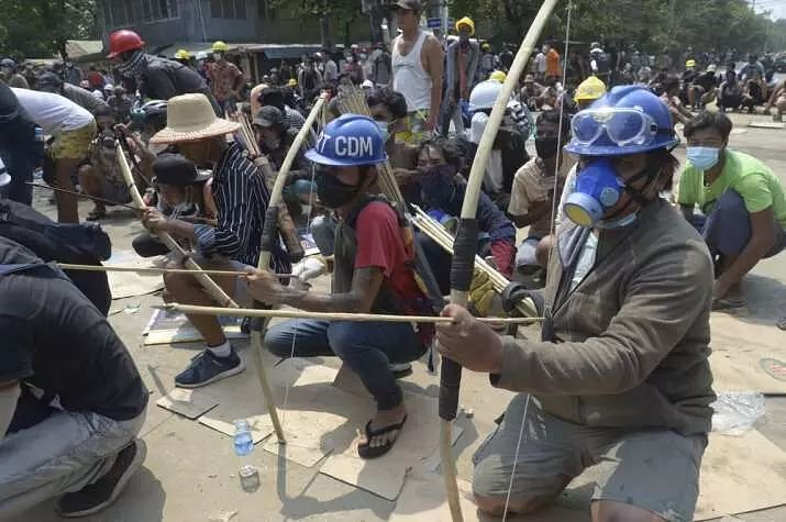 Myanmar forces detaining protesters families