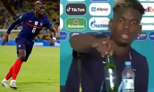 France Midfielder Paul Pogba Snubs Sponsor, Removes Heineken Beer Bottle for Religious Reasons