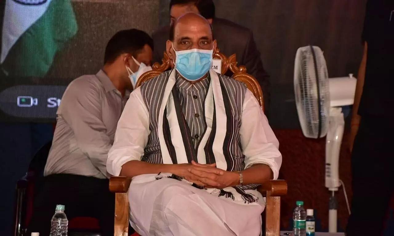 Defence Minister Rajnath Singh Visits Kamakhya Mandir after Inaugrating Strategically Vital Kimin-Potin Road