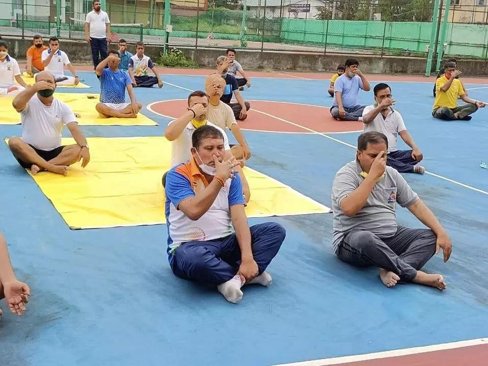 7th International Yoga Day celebrated at RG Baruah Sports Complex