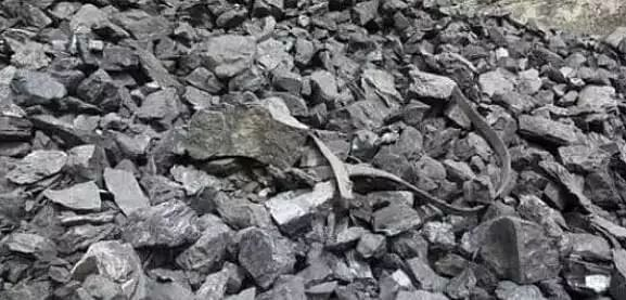 Coal laden trucks