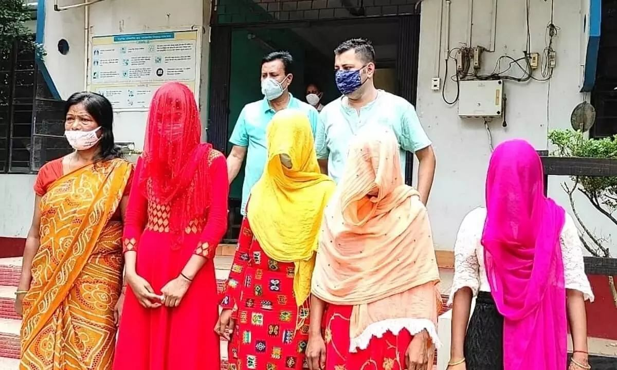 Four Minor Girls of Assam, Victims of Human Trafficking, Rescued from Rajasthan, UP