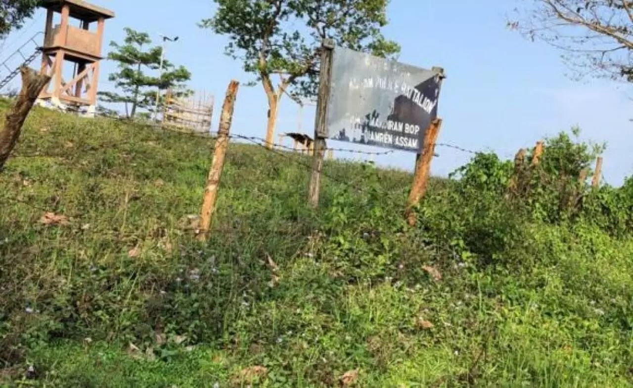 Arunachali aggressors obstruct establishment of BOP in Assam land of Lakhimpur