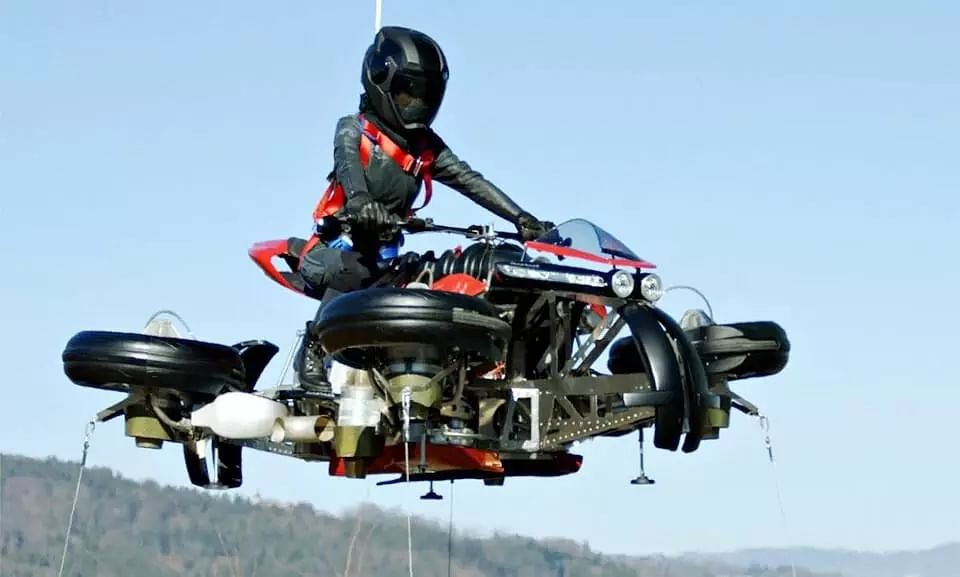 With 4 Turbojet Engines This Flying Motorcycle Prototype Aces its First Test Run