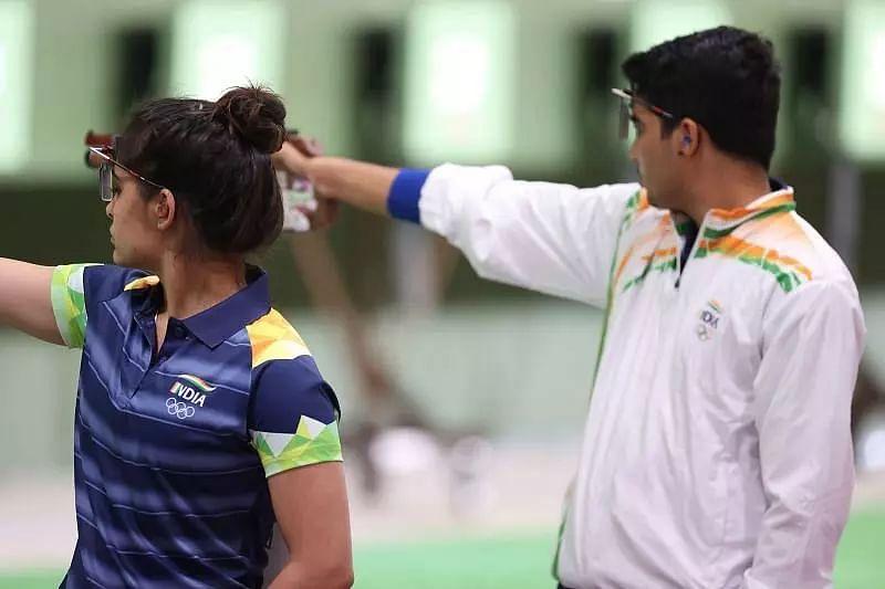 Saurabh Chaudhary and Manu Bhaker finish 7th