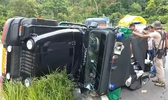 Minister Atul Bora Safely Escapes Convoy Crash in Meghalaya, 2 Constables Injured