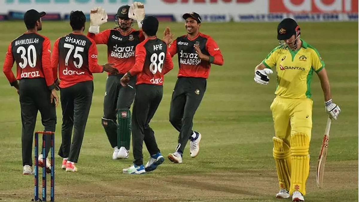 Nasum Ahmed takes 4-19 as Bangladesh stun Australia