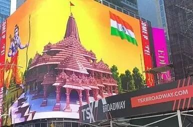 Ram Temple billboard displayed in New Yorks iconic Times Square; proud moment, say Indians