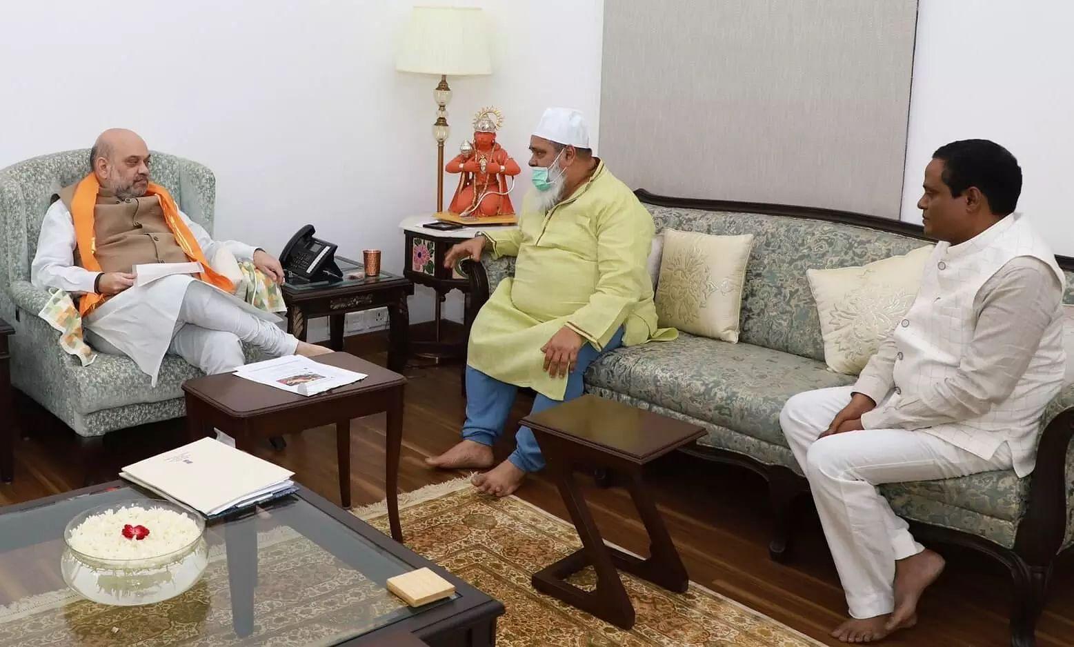 AIUDF Chief Ajmal Meets Home Minister Amit Shah For Long Term Assam-Mizoram Border Solution