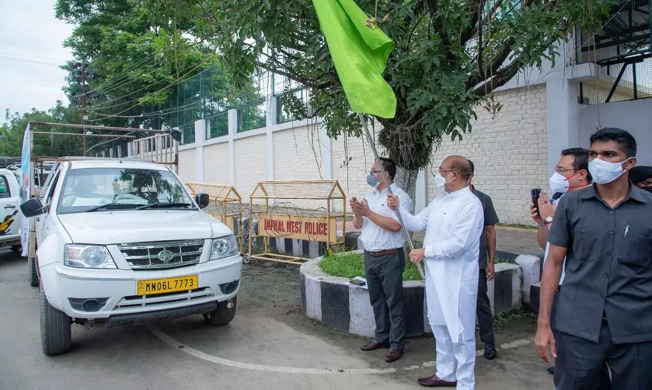 Manipur CM Biren Singh Flags Off Consignment of Black Rice to Europe