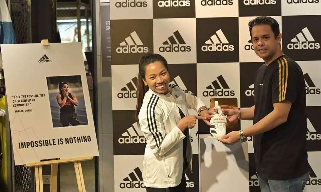Adidas Presents Manipurs Tokyo Olympics Medallist Mirabai Chanu Branded Shoes