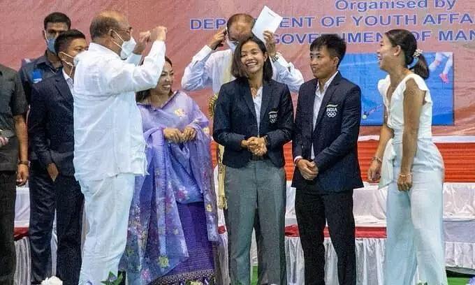 Im Happy to Felicitate Our 5 Manipuri Olympians: Chief Minister N. Biren Singh