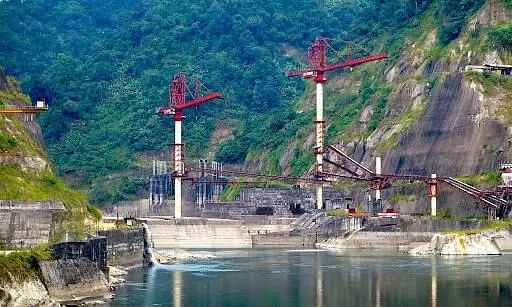 Guard Wall Of Dam Collapses In Subansiri In Assam