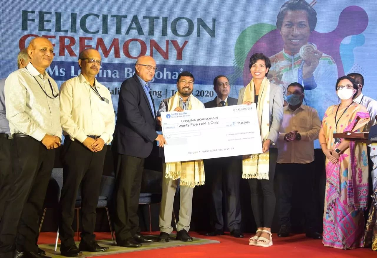 Lovlina Borgohain received cash incentives from OIL and NRL