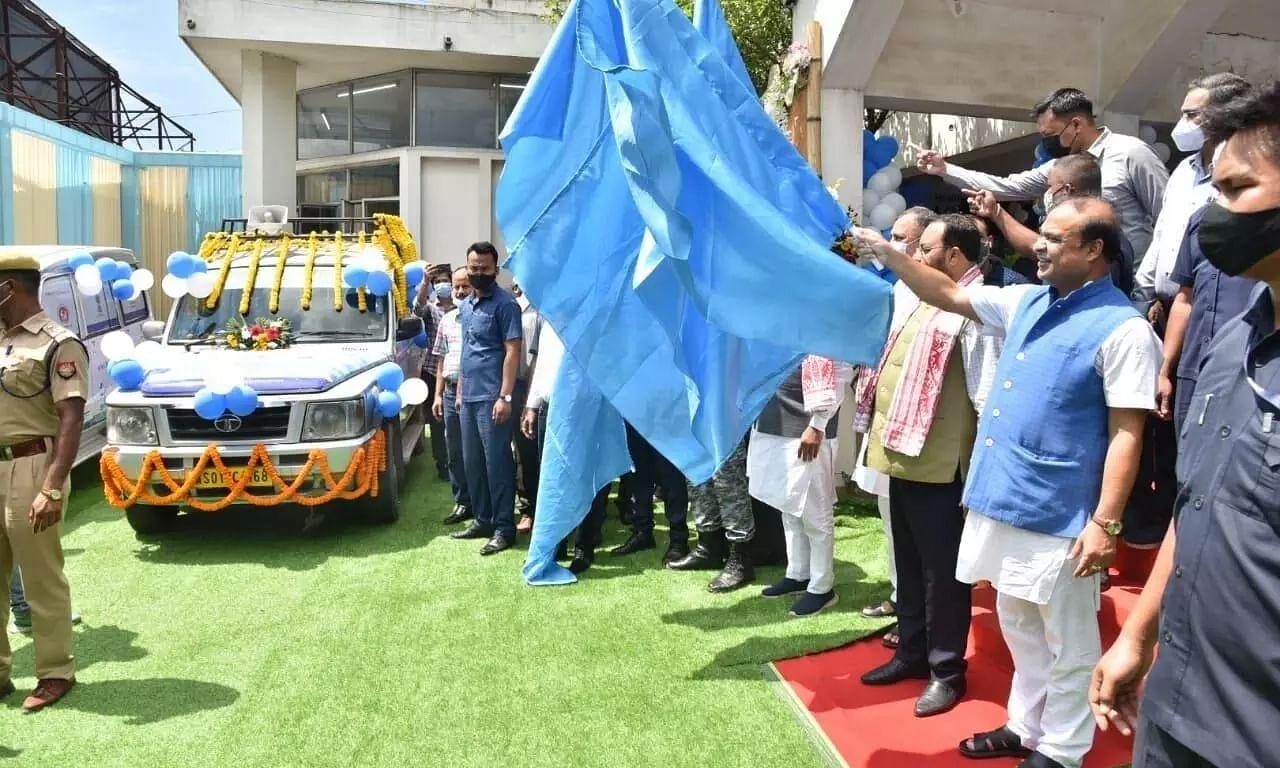Assam CM Himanta Biswa Sarma Flags Off Mobile Vaccination Van