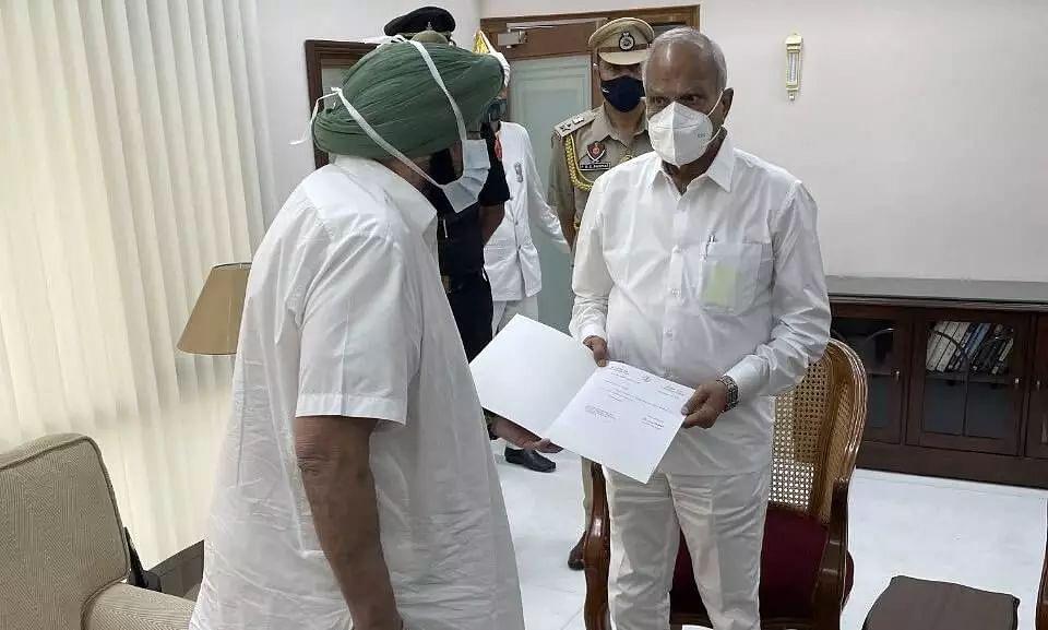 Punjab CM Captain Amarinder Singh Resigns