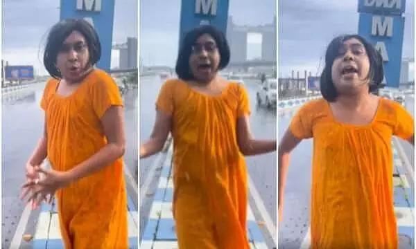 Kolkata Influencer Dances To Main Aai Hoon UP Bihar Lootne On Flyover, Fined By Police