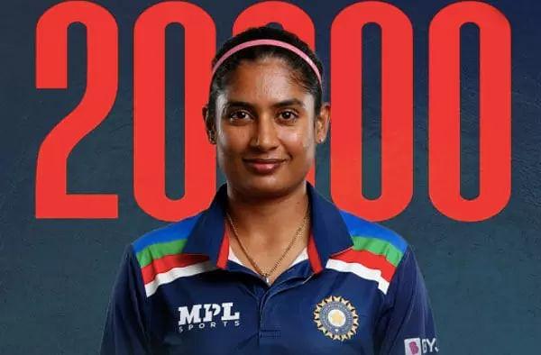 Mithali Raj completes 20,000 career runs