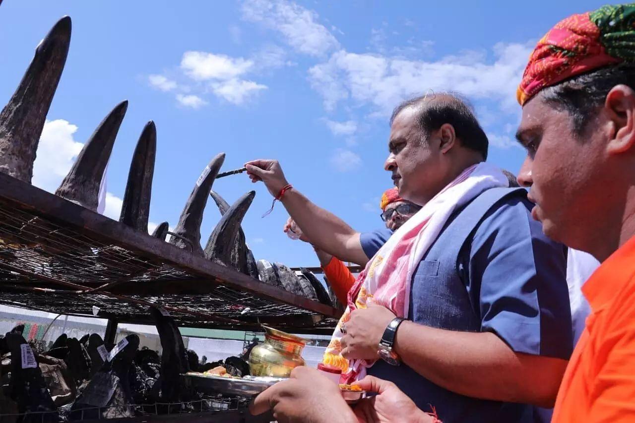 Rhino Horn Burning Ceremony: PM Modi Says Commendable Effort by Team Assam